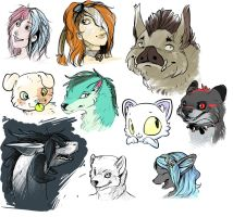 headshot sketches by tikopets