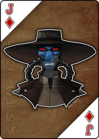 Star Wars Playing Card Series: Cad Bane by Geekincognito