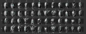 exo suit masks by landobaldur