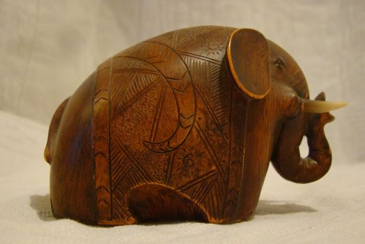 Wooden elephant 1 by Panopticon-Stock