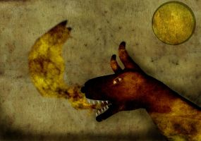 hand dog, howl at moon by vicioussuspicious
