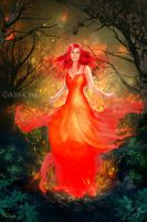 Goddess of Fire by AliaChek