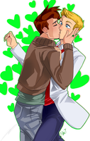 Halbarry Kiss by BatMantle