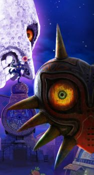 Majora's Mask Custom Art 3DS version and Theophany by Witxo