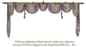 1819 Swag Curtain - Blue Purple by EveyD