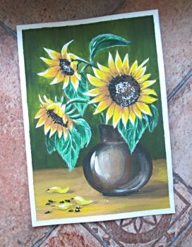 Card with sunflowers by Alena-48