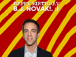 Happy Birthday BJ NOVAK! by Nolan2001