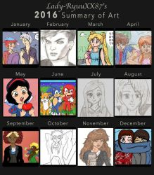 2016 Summary of Art by Lady-RyuuXX87
