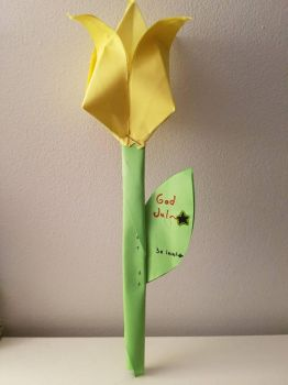 A Tulip with a Surprise Message Inside the Leaf by YuKey0