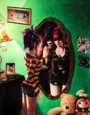 Honey,This Mirror Isn't Big Enough ForThe Two ofUs by Maithagor