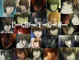 the many faces of Light Yagami by tomgirl227
