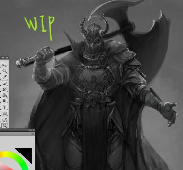 WIP knight by mettyori