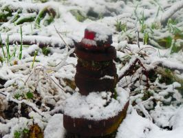 Snowy Fire Hydrant by wolfwings1
