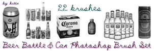 Beer Bottle and Can Brush Set by punkdoutkittn