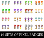 Pixel Badges by crissie2389