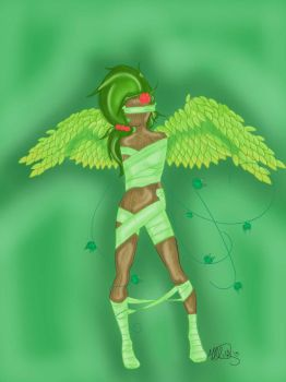 Green Earth Angel by Mistress0Darkness