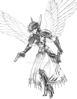 Commission - Meg as a Valkyrie by endlessnostalgia