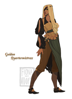 Adopt - Golden Quartermistress [closed] by fionadoesadopts