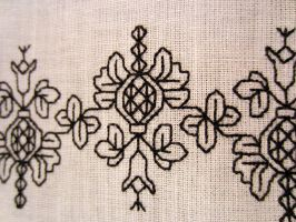 Pomegranate Blackwork 2 by VickitoriaEmbroidery