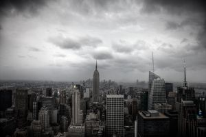 Midtown and Thunderstorms by augustmobius