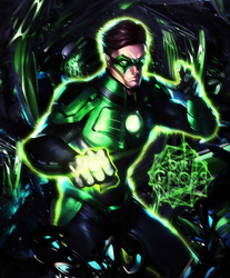 D.R. Gross - Green Lantern by eskeleton22