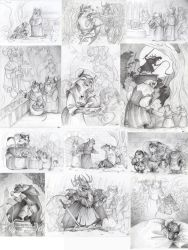 Some illustrations - Redwall - 2015 by FortunataFox
