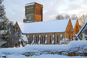 Snow St Pauls Church by CitizenJustin
