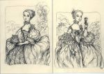 Mme. Pompadour thank you cards by suburbanbeatnik