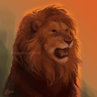 Lion -SpeedPaint by GoldenDruid