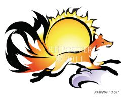 Sun Kitsune by RHPotter