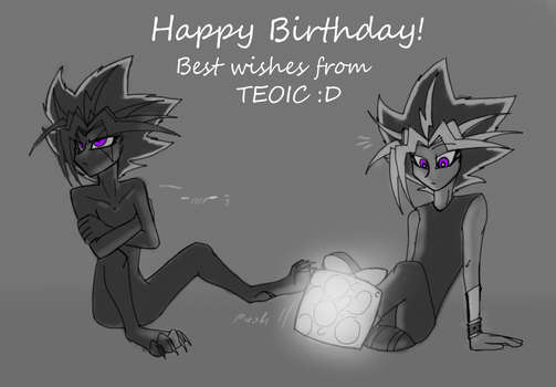 Happy Birthday Yami72 by CoffeeAddictedDragon