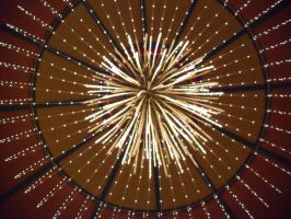 Abstract view of a chandelier, exploding and still by caspercrafts