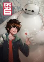 Baymax with Hiro by Closz