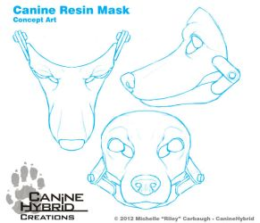 Canine Resin Mask: Concept by CanineHybrid