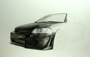 Drawing a Honda Civic step 4 by Per-Svanstrom
