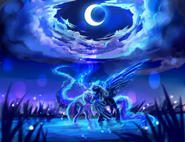 MLP C : under the moonlight by AquaGalaxy