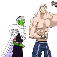 Piccolo meets Armstrong by BigJohnnyCool