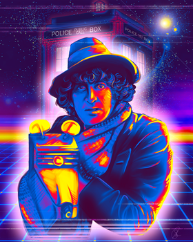 Doctor Who - Tom Baker and K-9 by Kachumi