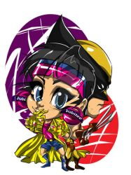 chibi wolverine and jubilee color
