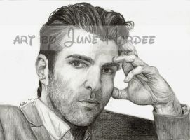 Zachary Quinto by JunebugHardee