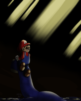 Swimming Beast in the Cavern by Nintendo-Nut1