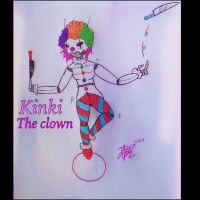 Kinki the clown: Dark but colourful OC by JacobTheTorched