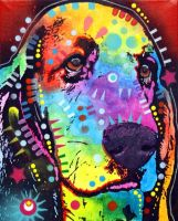 THINKING BASSET by deanrussoart