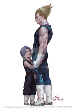 Vegeta and Trunks by inhyuklee