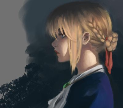 Violet Evergarden Study by DTrain2695