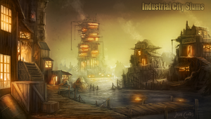 Industrial City Slums by AtTheSpeedOfFetus