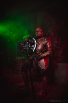 Fantasy Warrior cosplay / LARP costume red variant by my99reality