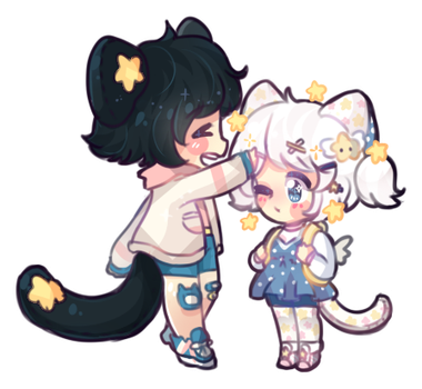 Smol chibi commission for Bakamilk by SparksTea