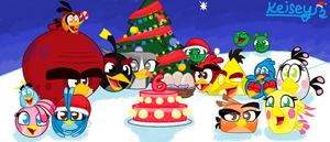 AB: Happy 6th birthday Angry Birds! by Cartoanime02