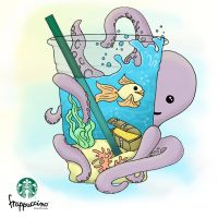 A Drink for an Octopus by Brightblueskittle